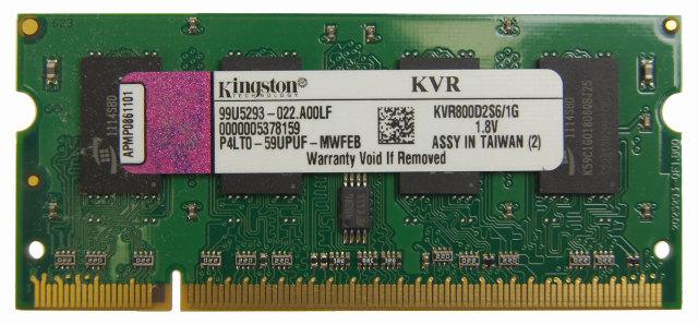 Kingston 1gb 200 Pin Ddr2 So Dimm Ddr2 800 Pc2 6400