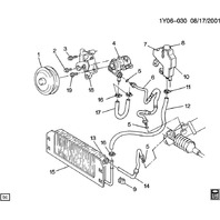 1990-1995 Chevy Corvette ZR1 LT5 Power Steering Pump Mount