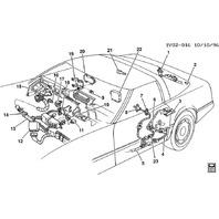 1987-96 Chevy Corvette C4 Left Door Switch Wire Harness