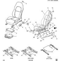 1997-2004 Chevy Corvette C5 Sport Seat Foam Cushion Lower