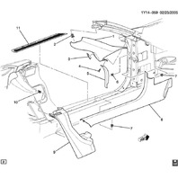 1997-2004 Chevy Corvette C5 Left Door Sill Jamb Trim Panel