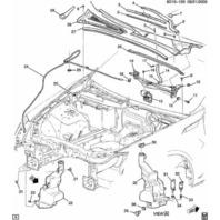 2005-2015 GM Windshield Wiper Nut Cap Black C6 Corvette H3