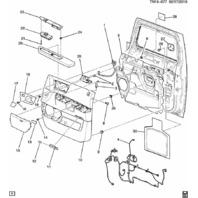 2008-2009 Hummer H2 Right RH Passenger Seat Heater Switch