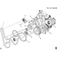 1997-2004 Chevy Corvette C5 Power Steering Pump Pulley