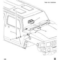 2006-2010 Hummer H3 & H3T Fender Mounted Radio Antenna