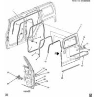 2006-2010 Hummer H3 Left Front Door Lock Cylinder Gasket
