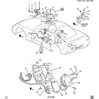 2000-2002 Chevrolet Corvette C5 Fuse Block W/Fuses Used CW