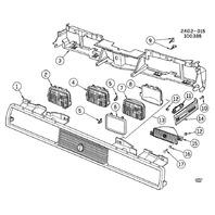 1982-2014 GM Headlight Adjustment Screw Clip Bracket