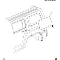2006-2010 Hummer H3 Rear Right RH Quarter Glass Window Non
