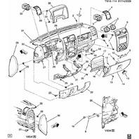 2006-2010 Hummer H3 Lower Left Knee Bolster Panel Black