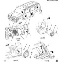 2006-2010 Hummer H3 Subwoofer With Enclosure New OEM