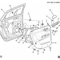 2006-2014 Chevrolet Impala Classic Rear LH Door Handle