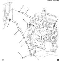 2007-2009 GMC Topkick/Chevy Kodiak C6500-C8500 Heater Hose
