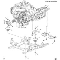 2006-2009 Cadillac STS V 4.4L Right RH Engine Mount
