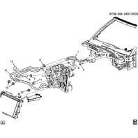 2006-2009 Cadillac XLR 4.4L Supercharged V8 Heater Hose