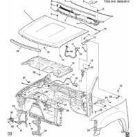 GM 20763454 Hood Latch & Switch/Sensor 2007-2014 Silverado
