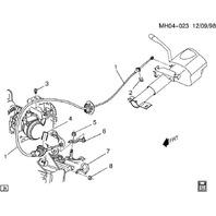 2009-2011 Buick Lucerne 3.9L Transmission Column Shift