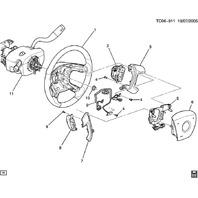 2009-2014 Chevy Traverse Driver Airbag Titanium Grey New