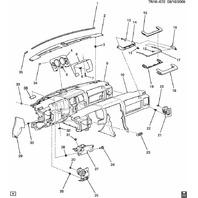 2008-2009 Hummer H2 Instrument Gauge Cluster Trim Bronze