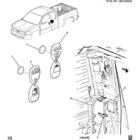 07-11 Chevy Silverado GMC Sierra Remote Door Lock Antenna