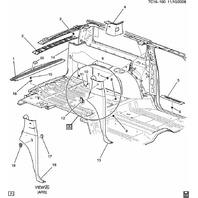 2009-2014 Cadillac Escalade/ESV Rear Hatch Gate Sill Scuff