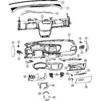 2013 Dodge Dart Knee Bolster Panel Lower Left Diesel Gray