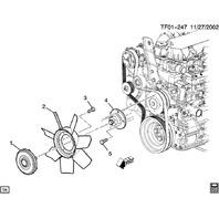 2004-09 Topkick/Kodiak T6500 T7500 T8500 Radiator Fan
