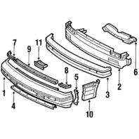 1987-1989 Fits Nissan Pulsar NX Front Bumper Assembly