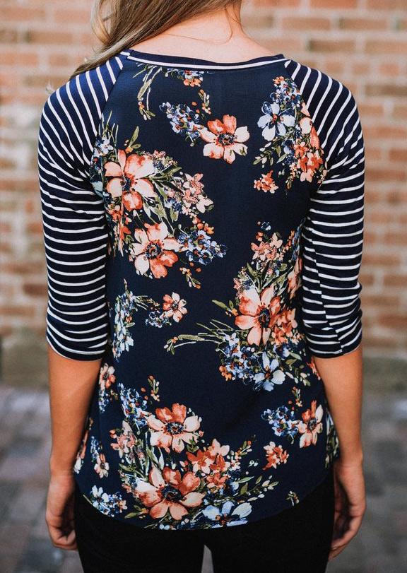 plus size floral shirt