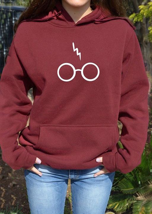 Harry Potter Glasses Letter Printed Hoodie  Fairyseason
