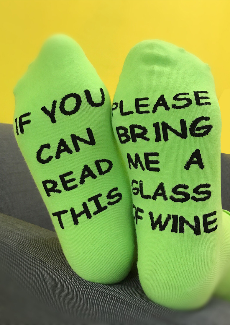 Please Bring me a Glass of Wine Socks  Fairyseason
