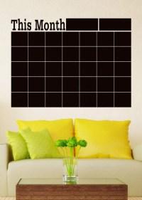 Chalk Blackboard Wall Sticker Calendar