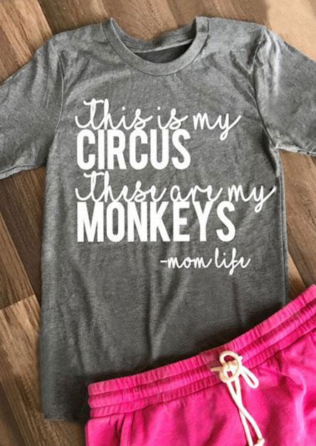 Circus  Monkeys TShirt  Fairyseason