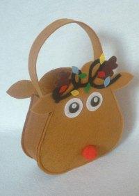Christmas Cartoon Reindeer Candy Bag Gift Holder - Fairyseason