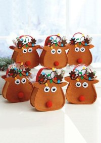 Christmas Cartoon Reindeer Candy Bag Gift Holder