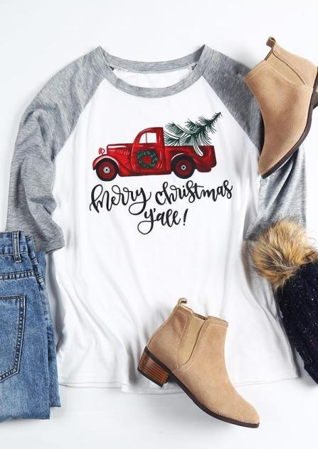 Merry Christmas Y'all Country Style Christmas Tee