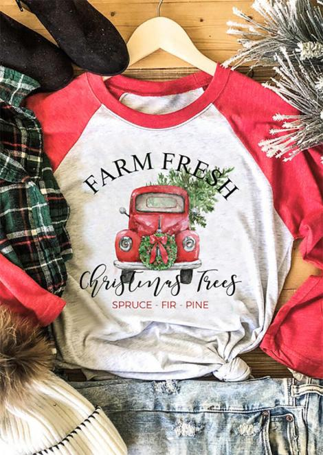 Farm Fresh Country Style Christmas Tee