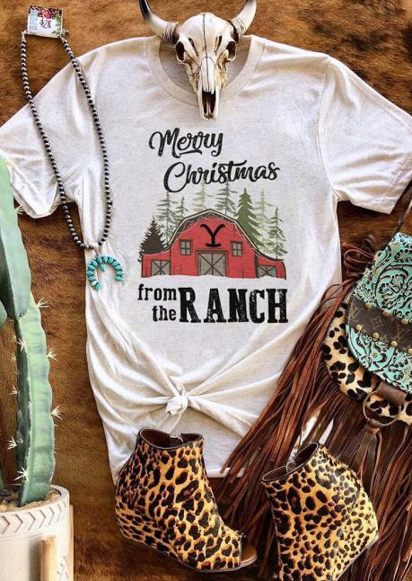 From The Ranch Country Style Christmas Tee