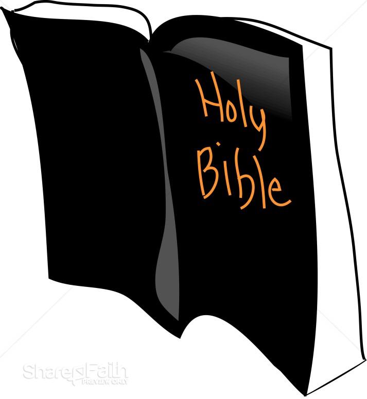 Upright Bible Clipart