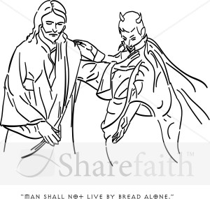 JESUS TEMPTATION COLORING PAGE « Free Coloring Pages
