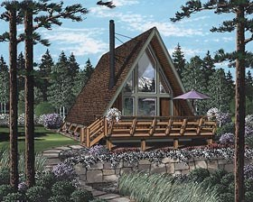 A-Frame Home Plan Number: 24308