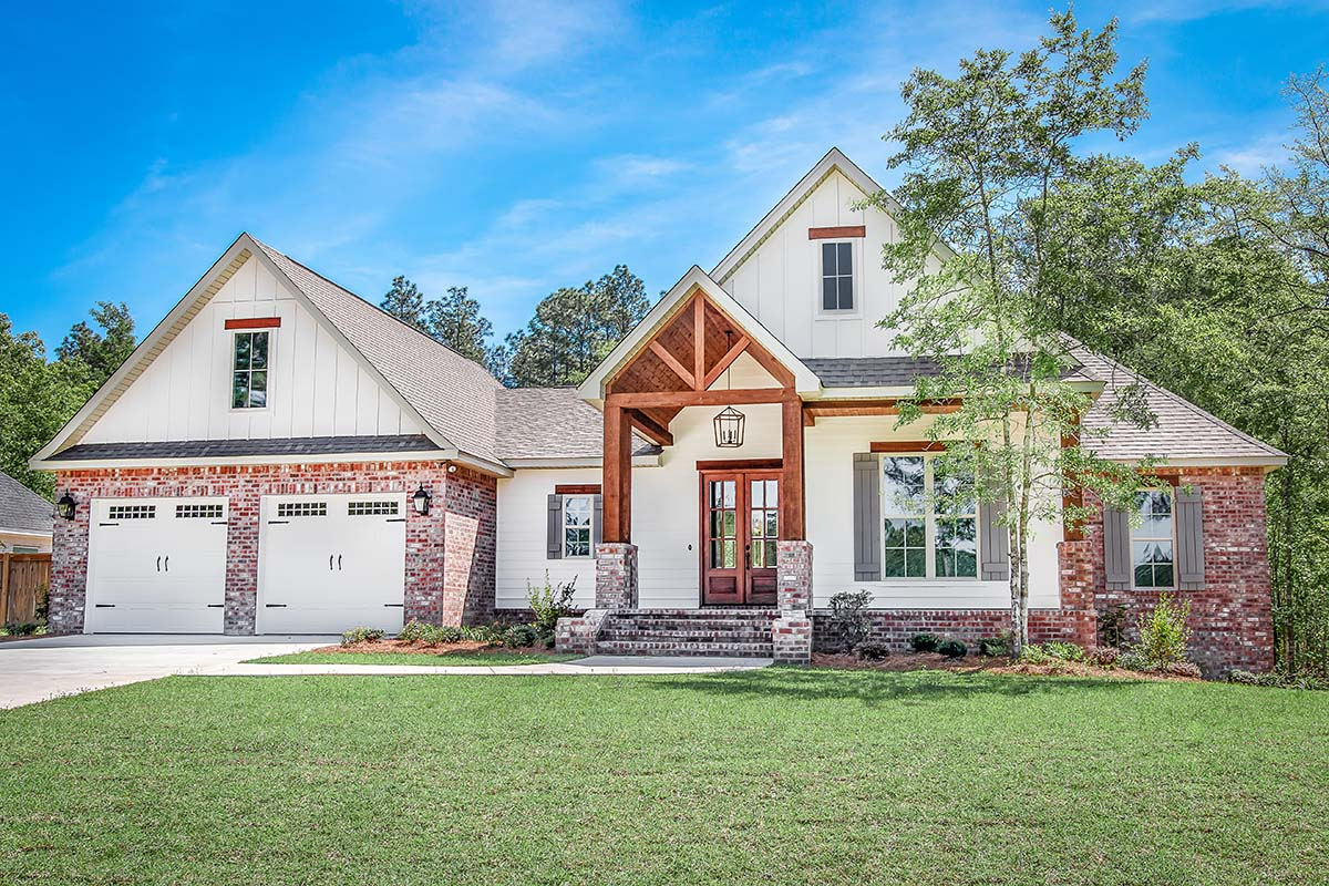 House Plan 51991 Traditional Style With 2281 Sq Ft 4 Bed 2 Bath