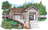 Recreational vehicle garage plans