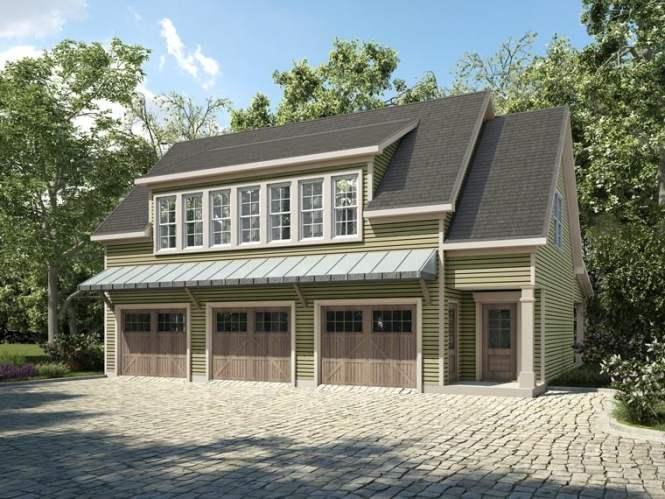 Plan 58287 3 Car Garage Apartment