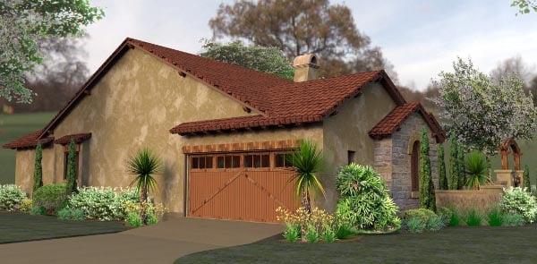Cottage European Mediterranean Tuscan House Plan 65893