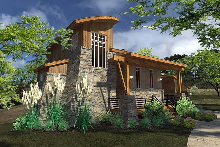 Contemporary Cottage Craftsman Modern Tuscan House Plan 75140