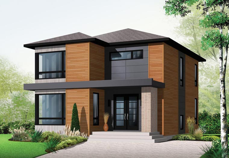 Modern Style House Plan 76317 With 3 Bed, 2 Bath, 1852 Sq Ft