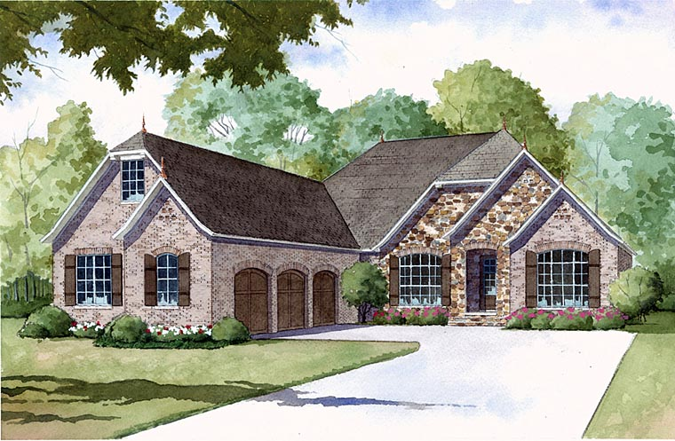 Country Style House Plan 82406 With 3 Bed, 3 Bath At