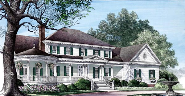 Colonial Farmhouse Plantation Southern Victorian House