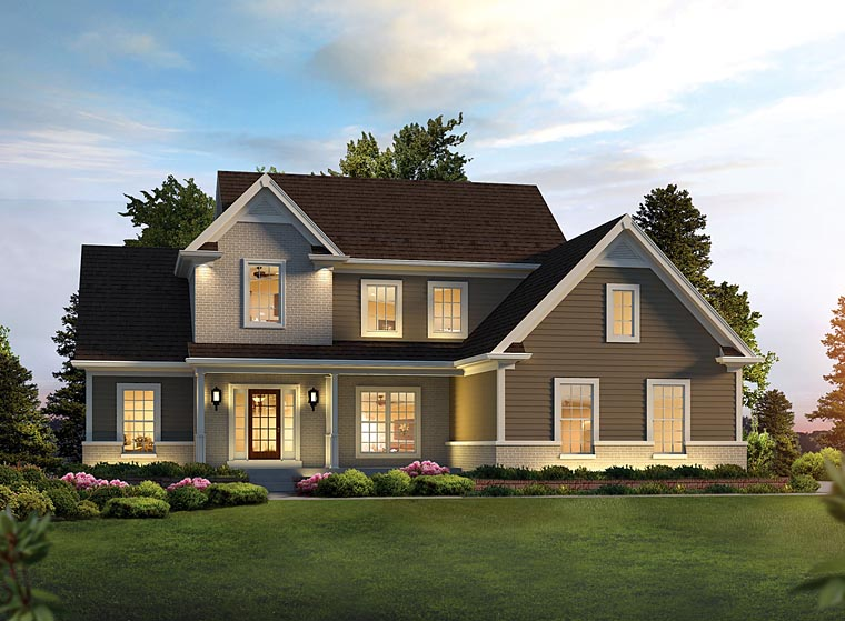 Traditional Style House Plan 95967 With 3 Bed, 3 Bath At